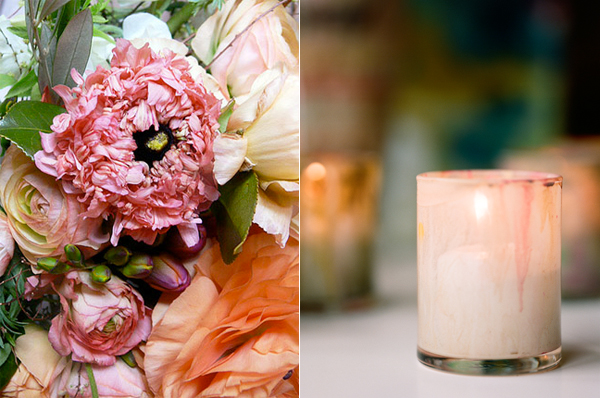 Ranunculus-Pink-Peach-Wedding-Flowers-Painted-Votive
