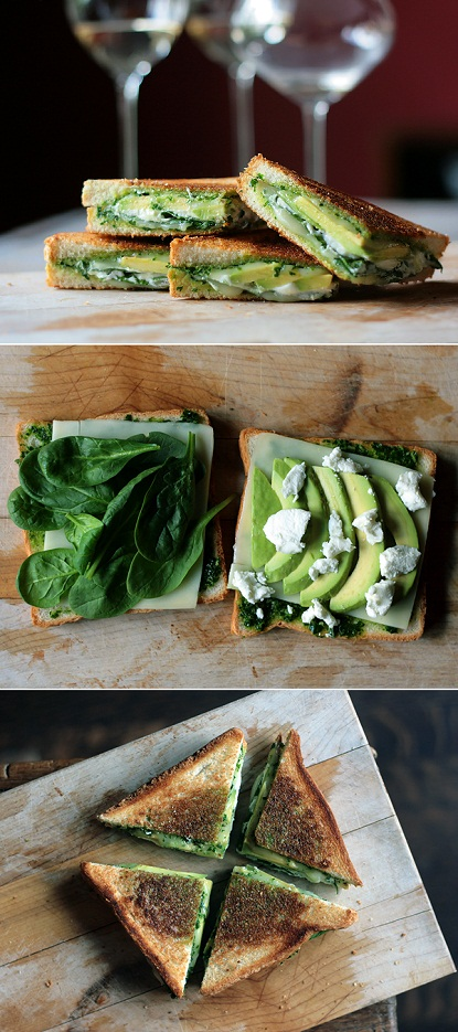 green grilled cheese