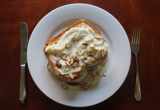 Lemon Mascarpone French Toast With Almonds