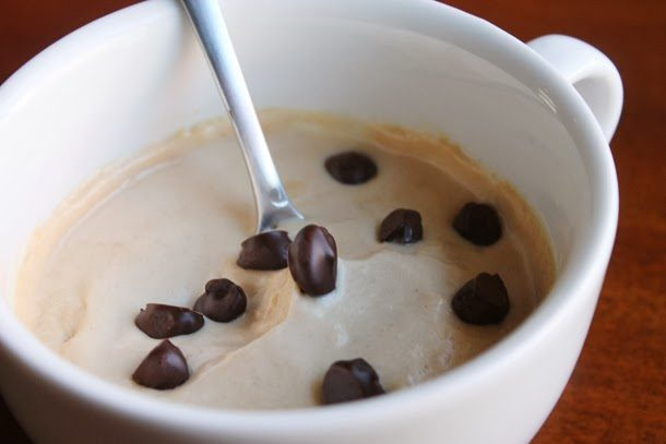 Peanut Butter Mousse With Chocolate Covered Coffee Beans