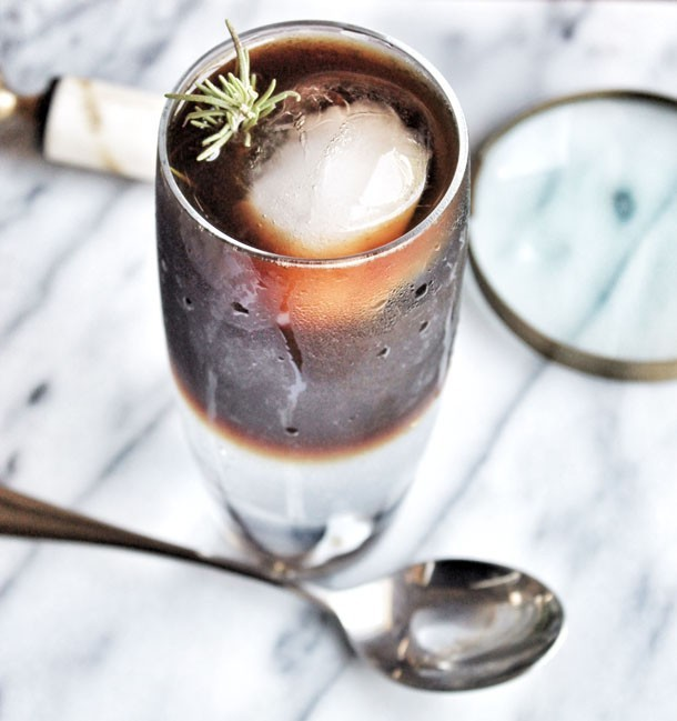 Iced Espresso & Tonic with Rosemary