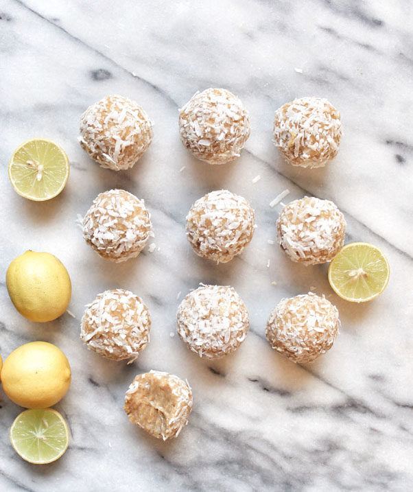 Key lime coconut energy balls