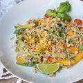 Thai Inspired Mango Basil Pasta Salad