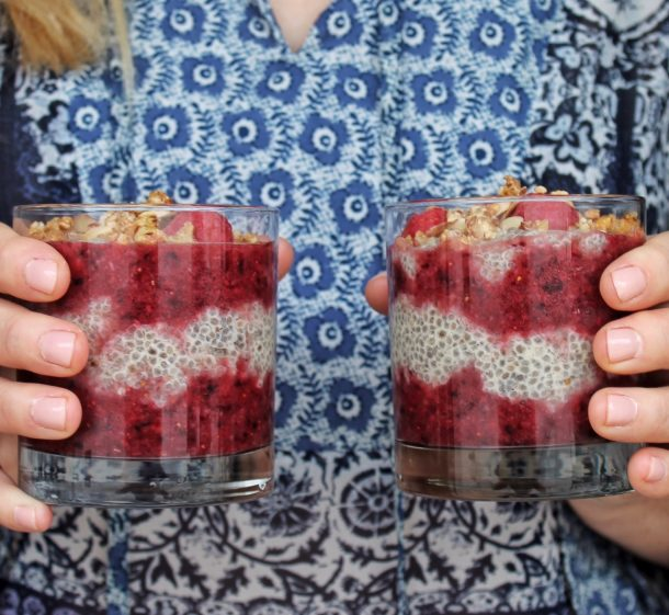 Cinnamon Berries and Chia Parfaits | A Bit of Bees Knees